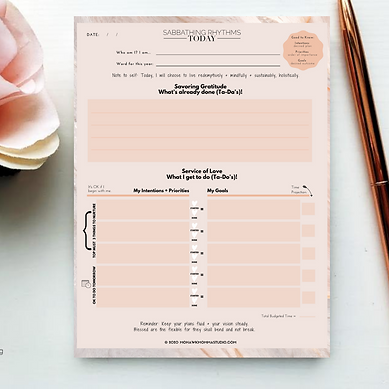 Daily Intentions Notepad Mockup Guide wi