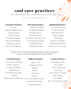 Soul Care Practices