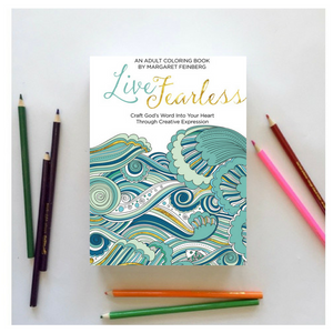 Live Fearless Adult Coloring Book