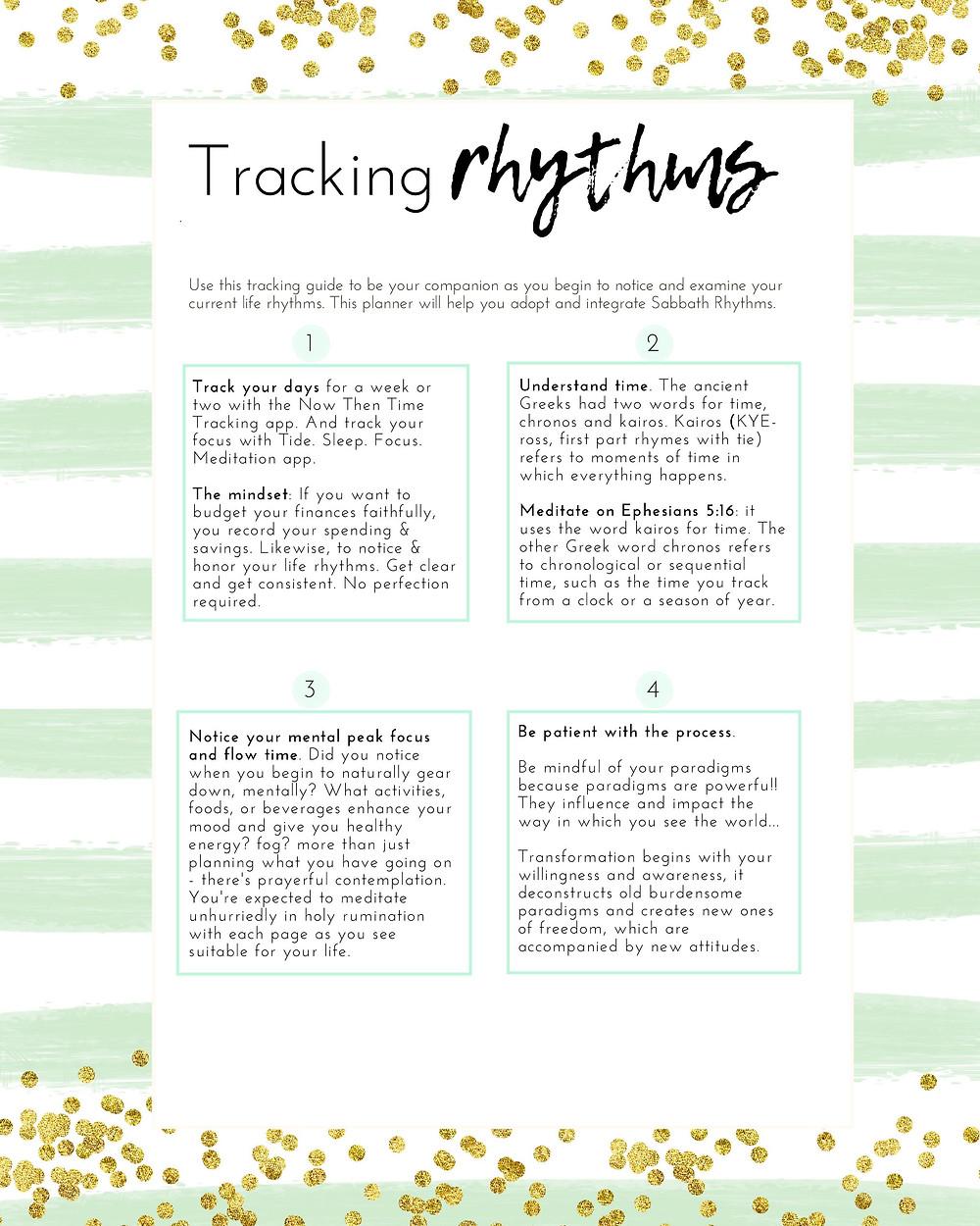 Sabbath Rhythms Tracking Guide