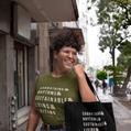 Sabbathing Rhythms Woman in T-shirt Carrying Tote