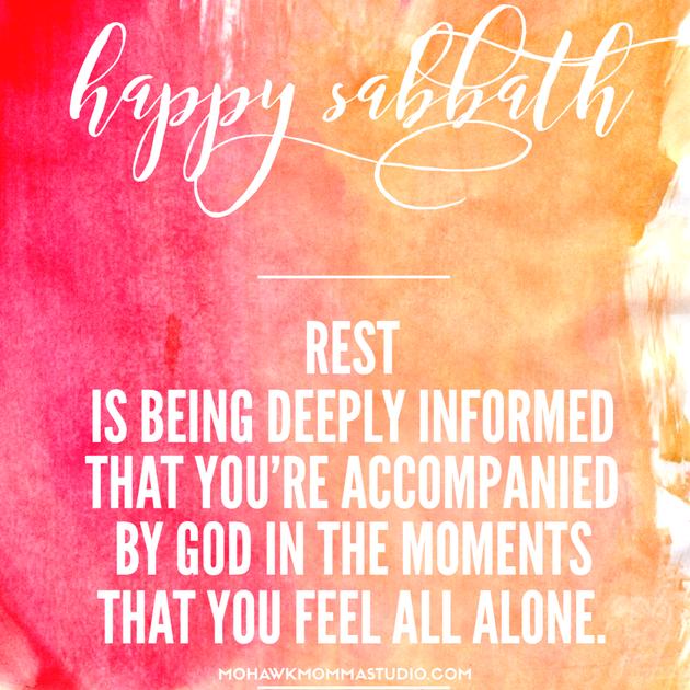 Happy Sabbath Watercolor