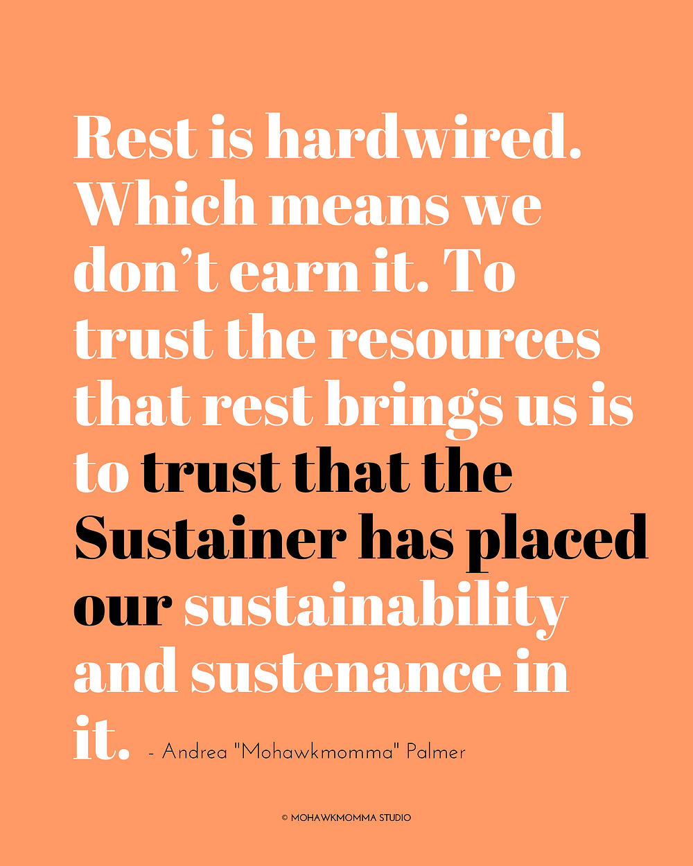 Rest is Hardwired