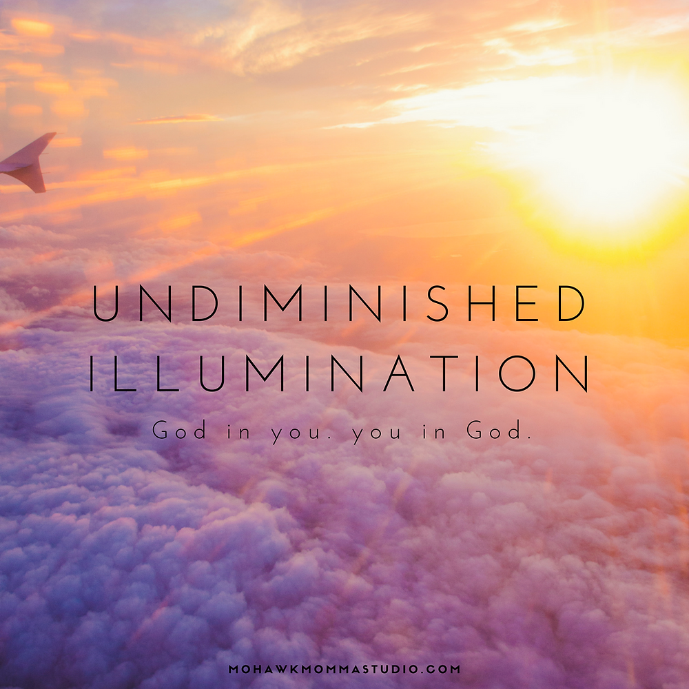 God in you. you in God.