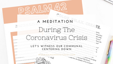 A Meditation During The Coronavirus Crisis