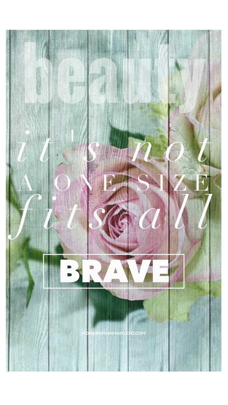 Brave Beauty iPhone Wallpaper