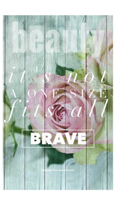 Brave Beauty iPhone Wallpaper