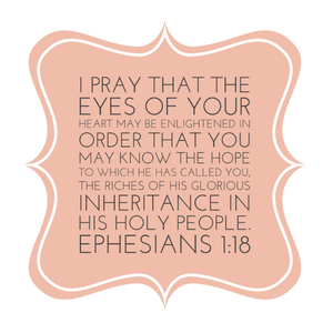 Ephesians Chapter 1 Verse 18
