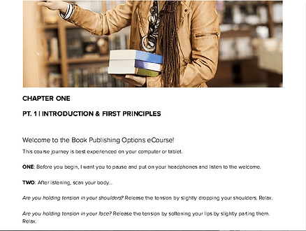 Book Publishing Online Course Chapter 1.