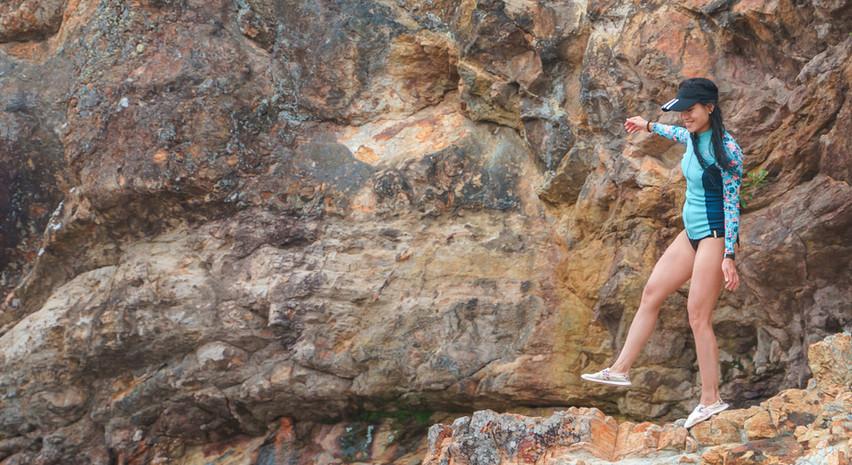 岸邊探沉積岩