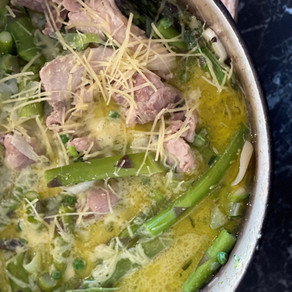 Chicken, Leek and Asparagus Braise