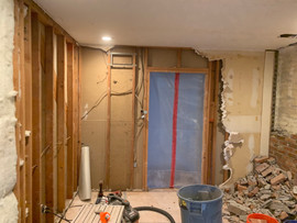 Getting ready for new drywall