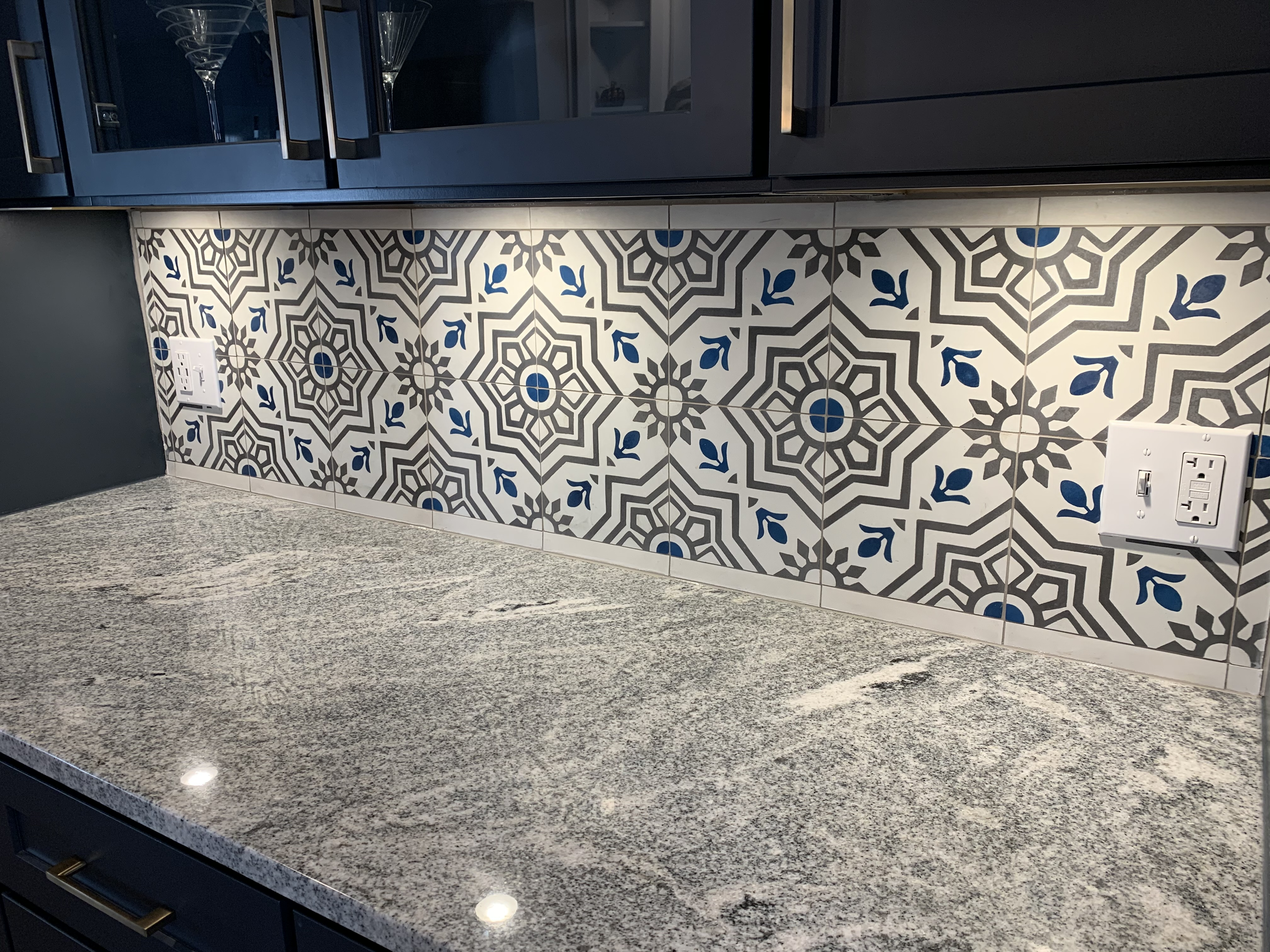 Backsplash in the Dining Room
