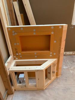 Shower Bench Under Construction