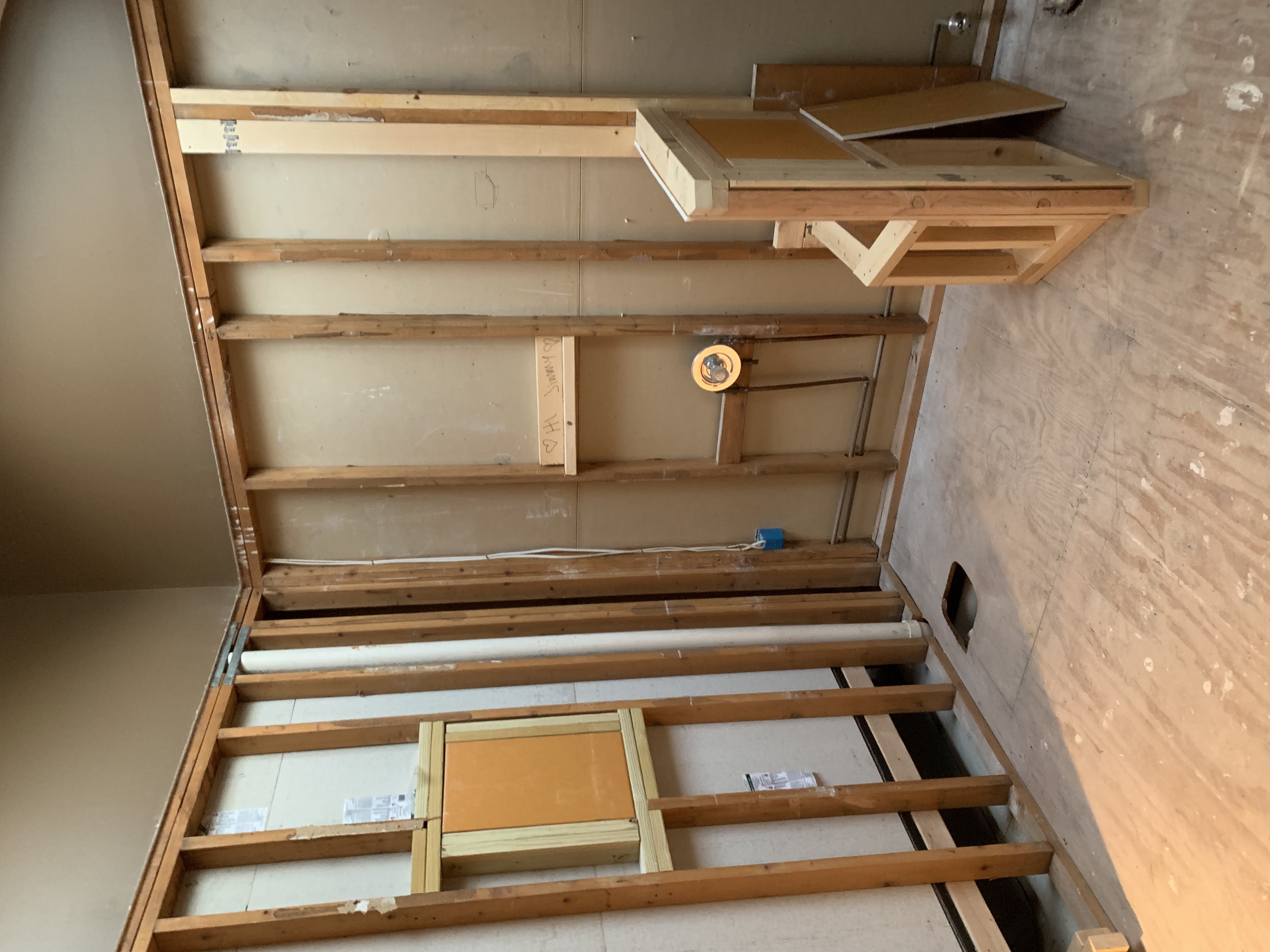 The New Shower Framed Out