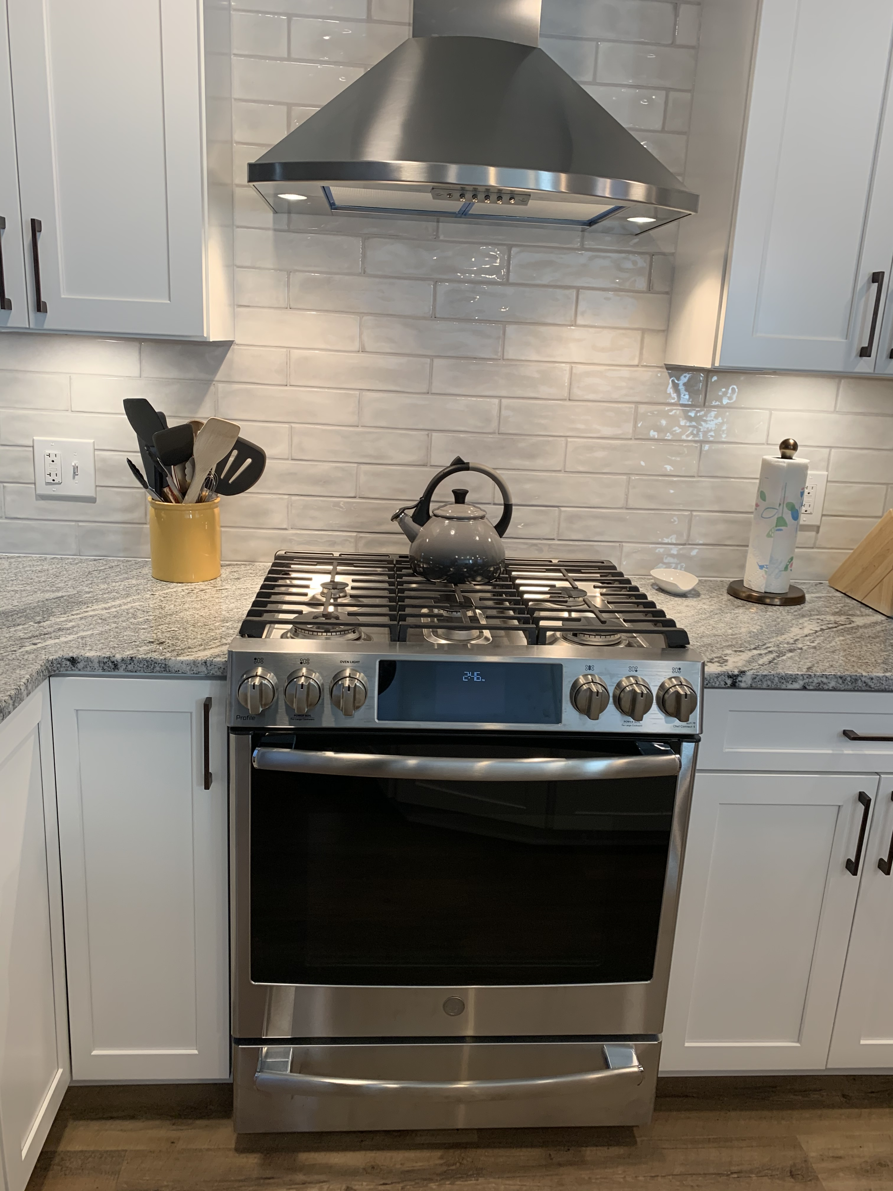 Backsplash and Stove
