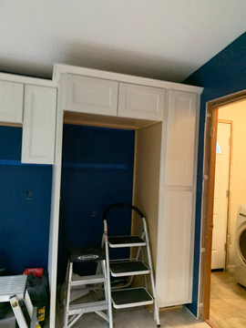 New Cabinets being installed