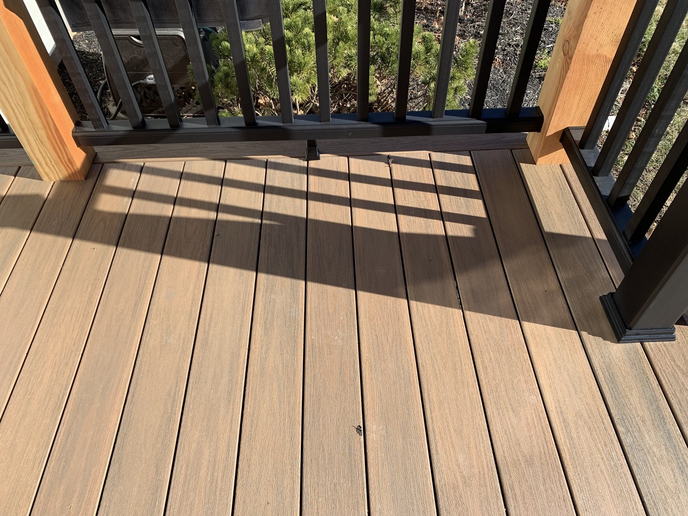 Close up of the new Decking