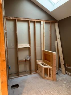Framing the New Shower