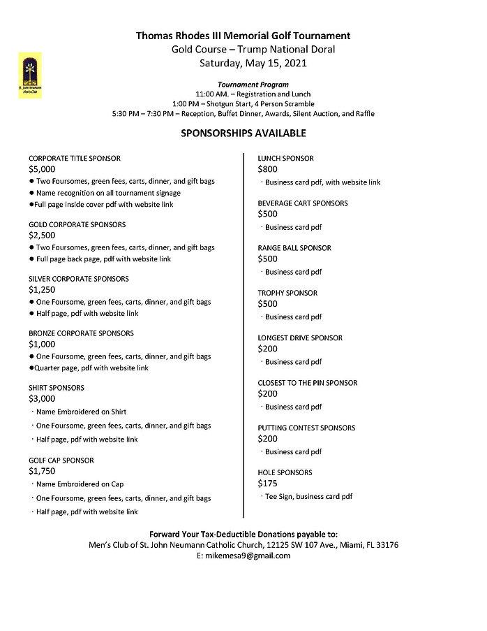 SJN Golf Tournament Sponshorships 2021.j