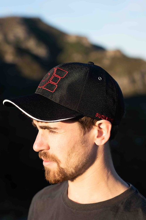 Recycled Baseball Cap | Outline Red