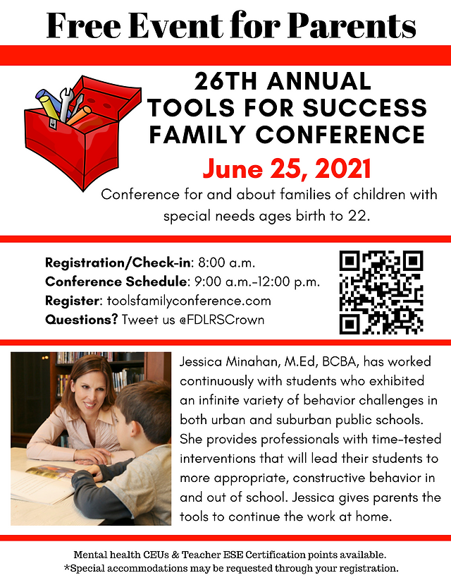 June 25 Flyer_26th Annual Tools for Success Family Conference (1).png