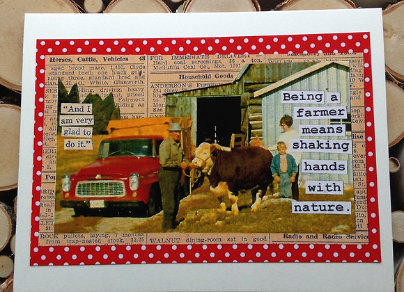 """Fulton's Greeting Card - """"Horses, Cattle, Vehicles"""""""