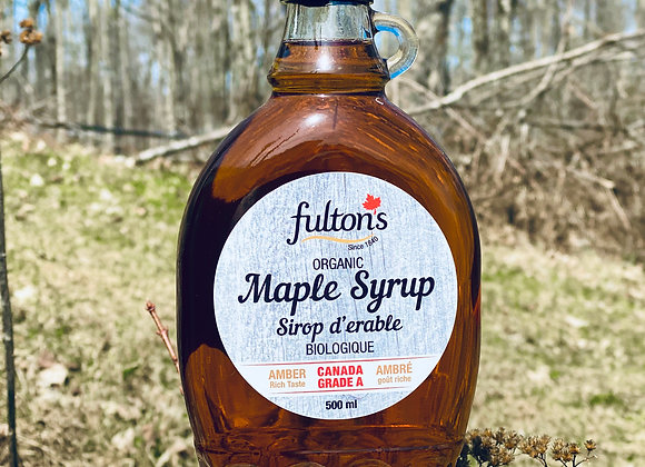 Pure Organic Maple Syrup - 500ml