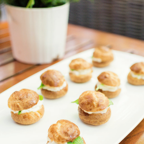 Gougere, Goat Cheese Mousse