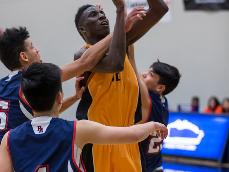 Shawnigan Lake School with a thrilling comeback victory over the Pacific Academy Breakers