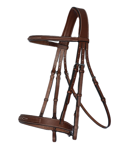 Hunter Bridle w/ Fancy Stitiching & Laced Reins