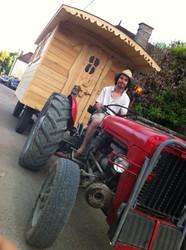 Déplacement roulotte au tracteur