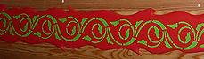 Frise peinte avec motifs au pochoir