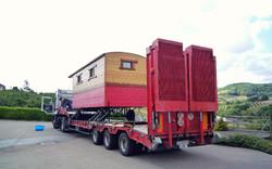 Transport avec camion porte-engin
