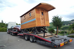 Transport roulotte avec camion