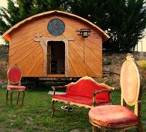 roulotte chapelle en bois