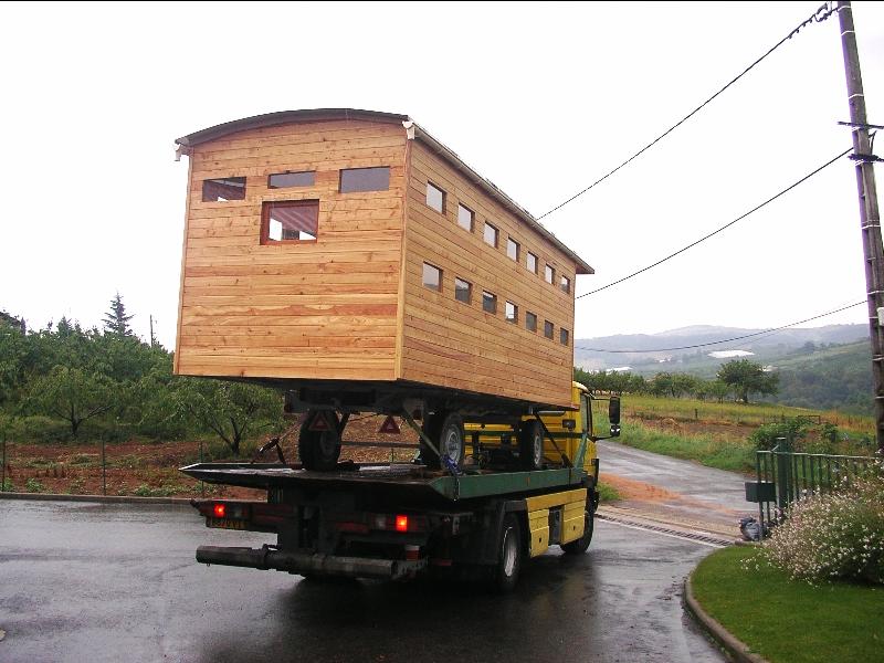 Transport roulotte avec dépanneuse