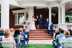 wedding ceremony at Magrath Mansion