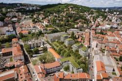 Vue aérienne du quartier Jacquard