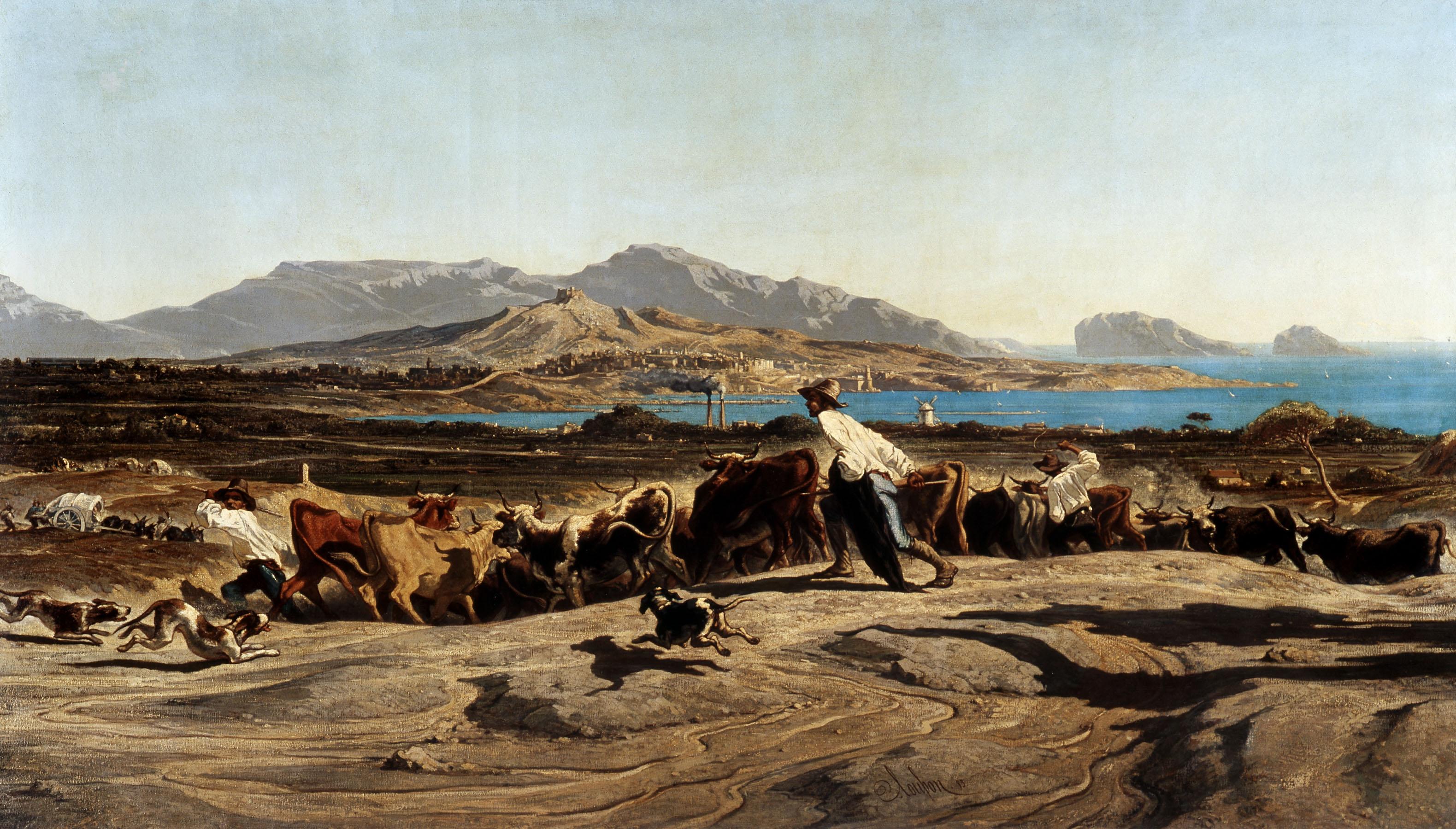Vue de Marseille prise des Aygalades