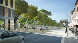 vue de l'avenue Camille Pelletan