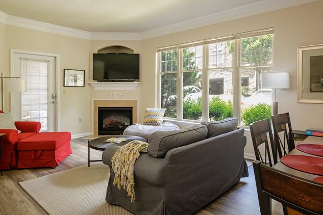 Living Room of a 1-edroom
