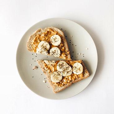 chia, banana, breakfast