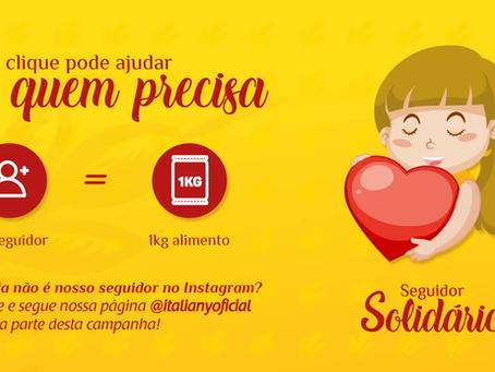 Campanha Seguidor Solidário: Seu clique pode ajudar a quem precisa.