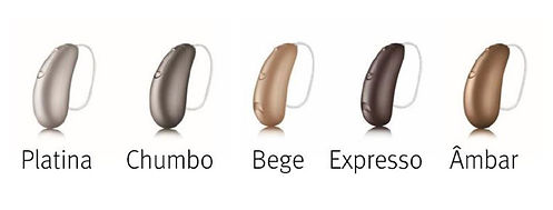 aparelhos auditivos coloridos