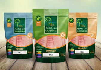 Embalagens Peixes da Amazônia