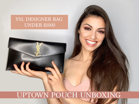 YSL UPTOWN POUCH UNBOXING AND REVIEW | DESIGNER BAG UNDER $1000