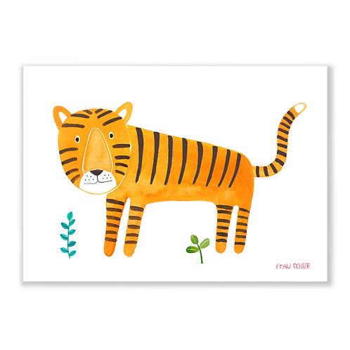 Frau Ottilie Print *Tiger*