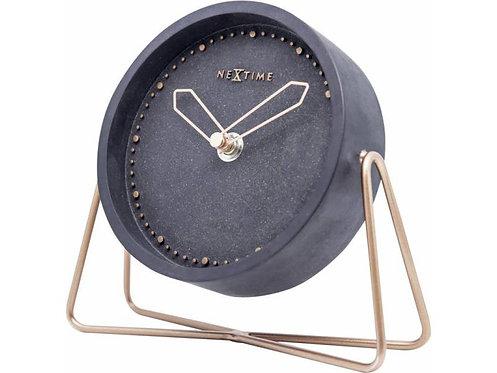 NeXtime Tischuhr Cross Table Wecker Schwarz