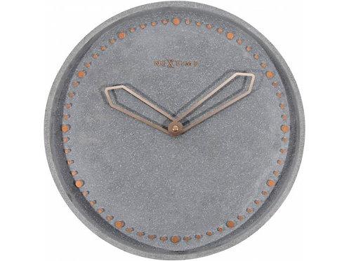 NeXtime Wanduhr Cross � 35 cm Grau